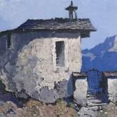 Lot 430: Oskar Mulley (1891-1949), Bergkapelle, Öl/Karton, 34,5 x 49 cm, Ergebnis: 30.000 €