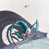Lot 43, GERALD SCARFE THE WIFE 570 by 575mm, pen, ink and watercolour drawing £6,000-8,000