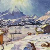 Lot 44 - Giovanni Giacometti - Winterlandschaft Maloja, 1932