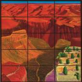 Lot 6- David Hockney, 15 Canvas Study of the Grand Canyon (est. £3,800,000-5,000,000)