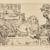 La Gourmandise Etching, 1904, the second (final) state Estimate £2,000-3,000 /€2,400-3,600