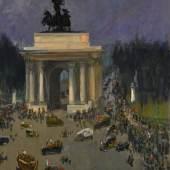 Lot 66 Sir John Lavery, Armistice Day, November 11th 1918, Grosvenor Place, London
