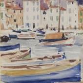 Lot 6 Francis Campbell Boileau Cadell, The Harbour Cassis, est. £15,000-25,000