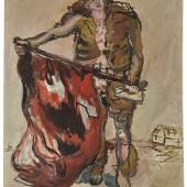 Lot 6, Georg Baselitz, Mit Roter Fahne (With Red Flag), 1965