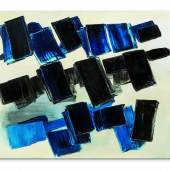 ot 7  Property from a Prestigious European Collection PIERRE SOULAGES n. 1919 PEINTURE 130 X 162 CM, 14 AVRIL 1957 signed; signed on the reverse oil on canvas Executed in 1957. [signé; signé au dos huile sur toile Exécuté en 1957. 130 x 162 cm; 51 3/16 x 63 ¾ in.] LOT SOLD: 4,379,300 EUR