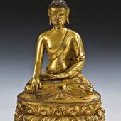 Lot 838: Buddha Shakyamuni, Tibet, 16./17. Jh., Erlös 16.500* Euro