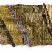 Lot 8  El Anatsui  Zebra Crossing 2 2007  Aluminium bottle caps and copper wire  Est. £550,000-750,000