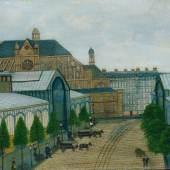 Louis Vivin Paris, les Halles Centrales et l'église Saint-Eustache, 1929 Öl auf Leinwand, 48 x 64,5 cm Kunsthaus Zürich, 1938