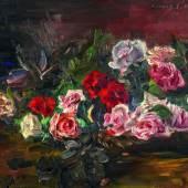 Lovis Corinth (1858 - 1925) Rosen | 1910 | Öl auf Leinwand | 48,5 x 62,5cm  Taxe: 250.000 - 350.000 Euro