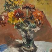 Lovis Corinth (1858 – 1925) Herbstblumen in Vase 1924 Öl auf Holz 56 x 48cm Schätzpreis: 130.000 – 180.000 Euro Ehemals Sammlung Max und Hedwig Matheus