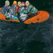 Daniel Richter, Tarifa, 2001 Collection Ken and Helen Rowe, London, © Bildrecht, Wien 2017 Öl auf Leinwand 350 x 280 cm