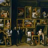 David Teniers d. J. Erzherzog Leopold Wilhelm in seiner Gemäldegalerie in Brüssel um 1653 Graf Harrach'sche Familiensammlung Schloss Rohrau, Niederösterreich Öl auf Leinwand 70 x 86 cm