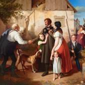 Johann Peter Krafft, Die Heimkehr des Landwehrmannes, 1820 © Belvedere, Wien, Foto: © Belvedere, Wien Öl auf Leinwand 280 x 360