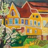 Alfred Wickenburg, Altes Haus im Frühling, 1950 © Belvedere, Wien/Leihgabe aus Privatbesitz, New York Öl auf Leinwand, 99,4 x 129,5 cm