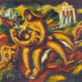 Alfred Wickenburg, Römisches Liebespaar, 1921 © Belvedere, Wien/Leihgabe aus Privatbesitz, New York Öl auf Leinwand, 178 x 195,5 cm