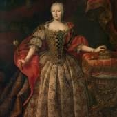 Daniel Schmidely, Maria Theresia im ungarischen Krönungskleid, 1742 © Galéria mesta Bratislavy Öl auf Leinwand, 237,5 x 157 cm