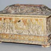 """Schatulle mit """"Pastiglia""""-Dekoration der italienischen Renaissance, Ferrara 15., Schätzpreis:9.000 - 12.000 EUR"""