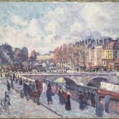 Maximilien Luce, Seinequai in Paris, 1899, Öl auf Leinwand  ©Bayerische Staatsgemäldesammlungen, Neue Pinakothek, München