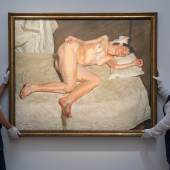 Lucian Freud, Portrait on a White Cover, 2002-3, £17,000,000-20,000,000-...