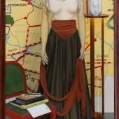 Lucy McKenzie Rebecca, 2019 Öl auf Holz 206,1 × 108,3 cm Udo und Anette Brandhorst Sammlung © Lucy McKenzie. Foto: Mark Blower. Courtesy the artist and Cabinet, London.