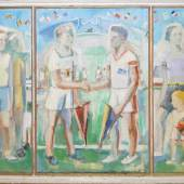 Ludwig Waldschmidt, Sport-Triptychon, Ölgemälde, 1936 Schätzpreis:800 - 900 EUR