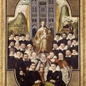 Matthieu Prieur,Puy von 1605, gestiftet von Jacques Destrées, Kirche erhellt durch ewiges Licht, Öl auf Holz; Foto: Philippe Arnaud/Museum der Picardie.