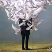 Wolfgang Lettl - Die Verwandlung (The Transfiguration) 1977, 89x107 cm