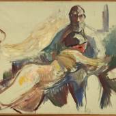 Edvard Munch gesehen von Karl Ove Knausgård Edvard Munch, Old Man with Naked Woman on his Lap, 1913–15, Öl auf Leinwand, 65 × 99 cm, Munchmuseet, Oslo Foto: © Kunstsammlung NRW