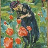 Edvard Munch gesehen von Karl Ove Knausgård Edvard Munch, Woman with Poppies, 1918–19, Öl auf Leinwand, 100 x 75 cm, Munchmuseet, Oslo Foto: © Kunstsammlung NRW