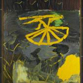 Per Kirkeby, Mellemtid II, 1990, Öl auf Leinwand, 200 x 170 cm, MHK, Neue Galerie