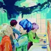 Romina Schenone Kindergarden (2011) Oil on Canvas 220x200 cm