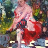 Ilka Meschke Venus (2010) distemper on canvas 160x105 cm