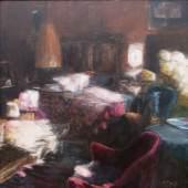 Ralph Penz Interieur (2007) Öl auf Leinwand 100 cm x 100 cm