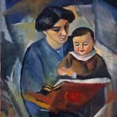 August Macke - Elisabeth und Walterchen, 1912 Öl auf Leinwand, 89 x 71,5 cm  Kunstmuseum Bonn Foto: Kunstmuseum Bonn, Reni Hansen