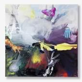 Franziska Maderthaner I don't like mondays, 2012 Öl und Mischtechnik auf Leinen, 190 x 190 cm € 9.000–13.000  € 13.750,- ersteigert Fotocredit: Auktionshaus im Kinsky
