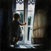 """((Bild Maedchen am Fenster; Bildnachweis: Rainer Schoch)): """"Mädchen am Fenster"""" von Rainer Schoch: Der mehrfach preisgekrönte Maler lebt in der Schweiz."""