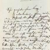 A164 / 132 GUSTAV MAHLER (1860-1911) Eigenhändiger Brief mit Unterschrift. Olmütz, datiert 28. Februar 1883. 1 Seite.  CHF 3 000 / 4 000