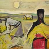 Mahmoud Sabri, A Family of Farmers, 1953, oil on canvas (est. £100,000-120,000)