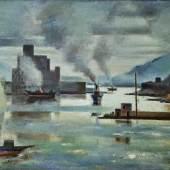 Mahmoud Said, Piraeus at dawn, 1949, oil on board (est. £300,000-400,000)