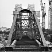Osthafenbrücke von der Deutschherrenbrücke aus gesehen (Aufnahmedatum 27. Mai 2012)