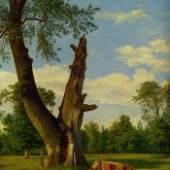 Partie im Prater, um 1835 Rudolf Matthias Toma Öl auf Karton Copyright: Wien Museum