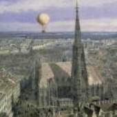 Ballonfahrt über Wien, 1847 Jacob Alt Aquarell Copyright: Wien Museum
