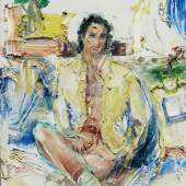 Manoucher Yektai, Portrait of Darius Yektai, 1996, oil on canvas, 137 by 122cm.