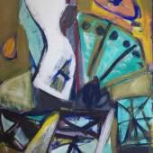 Erich Mansen: Fächerfigur, 1980, Öl auf Leinwand, 200 x 130