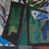 Erich Mansen: Fenster für Shmuel, (Kißlegg) 1986, Öl auf Leinwand, 145 x 105 cm