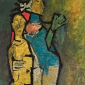 Maqbool Fida Husain, Untitled (Nayika), Estimate £…0,000-150,000