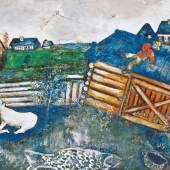 Marc Chagall Der Papierdrache, 1926  © Bildrecht, Wien 2019   Albertina, Wien. Sammlung Batliner