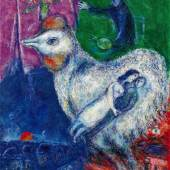 Marc Chagall, Grand coq blanc, oil on canvas, 1979-80 (est. £1,000,000-1,500,000)