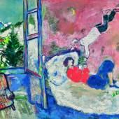 Marc Chagall, La poule aux oeufs d'or (Fables de la Fontaine), est. £260,000-360,000
