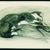 Franz Marc, Liegende Katze